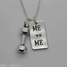 DUMBBELL + ME vs ME Chain Necklace * Fitness Weightlifting Gym crossfit creatine