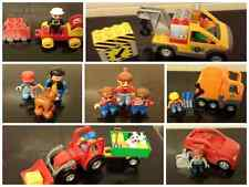 lego duplo big tractor sports car tow truck recycling truck mum children cat