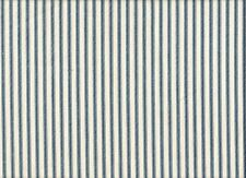 French Country Ticking Stripe Nautical Blue Tie-Up Valance Cotton Lined