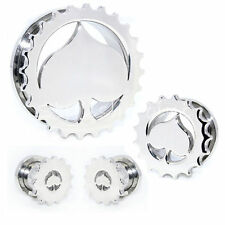 12 Sizes Ace Of Spade Silver Stainless Steel Screw Fit Flesh Tunnels Ear Plugs