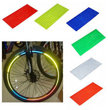 Fluorescent MTB Motorcycle Bicycle Stickers Cycling Wheel Rim Reflective Decals