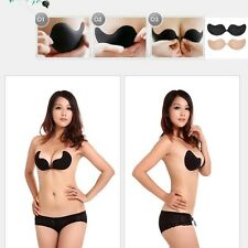 Silicone Adhesive Stick On Push Up Gel Strapless Backless Invisible Bra New
