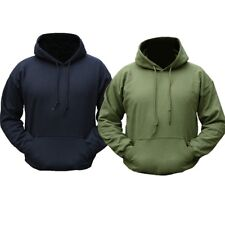 MILITARY PLAIN HOODIE BLACK GREEN HOODY BRITISH ARMY FISHING HIKING PAINTBALLING