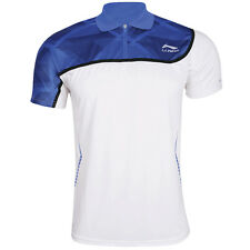 Li-Ning Mens Badminton T-Shirt in White/Blue
