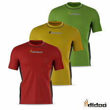 Mens Short Sleeve Running Top Athletic Fitness Base Layer Armour Gym Training