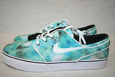 NIKE ZOOM STEFAN JANOSKI CANVAS SB TURBO GREEN WHITE BRIGHT CITRON TIE DYE NEW
