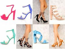 NEW RENEEZE Carina Women Pumps Platform High-Heel Wedge Sandals 5 Inch Peep Toe