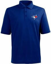 Toronto Blue Jays MLB Majestic MJM Dri Fit Polo Golf Shirt Blue Big Sizes