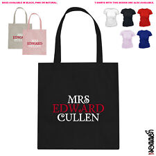 Mrs Edward Cullen Twilight Cotton Tote Bag 2