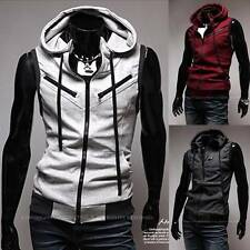 South Korea Men Boys Casual Hoodie Sleeveless Sweatshirt Vests H3823 US XS S M