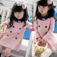 Wholesale Price Kid Toddler Baby Girl Clothes Cotton Wedding Prom Dress 3-8 Year