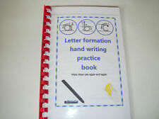 letter formation hand writing trace book A4/A5 size use again wipe clean