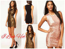 ASOS Mini Dress with Sequin Mesh Size 8UK/4USA/8AUS/36EU