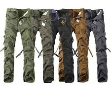 New Fashion Casual Mens Military Army Cargo Camo Combat Work Trousers Pants