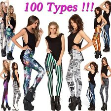 Sexy Lady Digital Printing Skinny Stretchy Leggings Jeggings Pencil Tights Pants