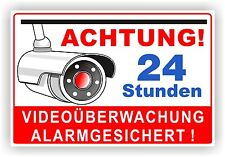 VIDEOÜBERWACHUNG / Kameraüberwachung / WARNSCHILD / Alu-Verbund 3mm  Video 4
