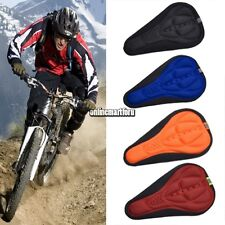 Mountain Bike Bicycle Cycling Soft Saddle Pad Cushion Cover Gel Silicone Seat