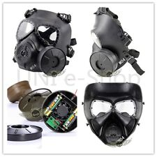 Airsoft Tactical Gun Wargame DUMMY Gas Protective Mask Anti-Fog Gear Fan Cosplay