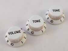 Vintage Relic BAKELITE KNOBS Volume & Tone 5.9mm Shaft Pots to fit Stratocaster