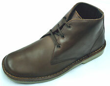 Men's Mid Brown Genuine Leather Desert Boots.