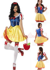 8-16 Womens Adult Snow White Princess Disney Costume Halloween Party Fancy Dress