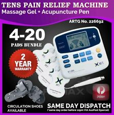 TENS Machine Massager Unit XFT320A +Acupuncture Pen w/Extra Pads BUNDLES 2YR WTY