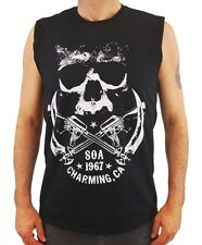 Sons of Anarchy Men's Crossed Weapons Logo Tank Top Black  TV Show Motorcycle