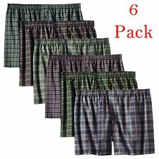 6 Mens Plaid Boxer Shorts Lot New Underwear Pairs Pack Small Medium Large XL
