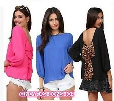 European Women 2014 Spring And Summer Chiffon Loose Backless Bow Pattern Blouse