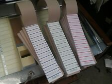 A BOOK OF 600 PERFORATED VINYL JUKEBOX JUKE-BOX TITLE STRIPS QUALITY OLD STOCK