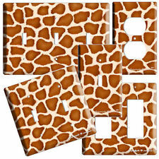 GIRAFFE PRINT KIDS CHILD ROOM DECOR LIGHT SWITCH OUTLET