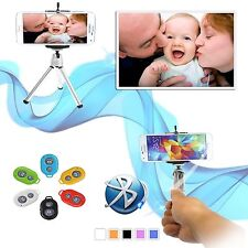 Bluetooth Selfie Remote Control Shutter+Tripod Holder Monopod for iPhone Samsung