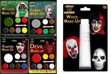 Halloween Face Paint Make Up Pallets Fancy Dress Devil Zombie Witch Vampire