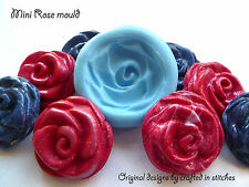 Rose flower silicone mold fimo sculpey polymer clay resin plaster sugar craft