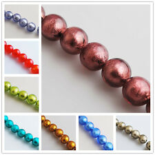 Pretty Lampwrok Glass Siler Foil Inside Beads Spacer Jewelry Finding14mm Charms