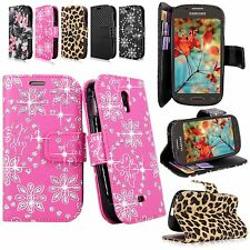 For Samsung Galaxy Light T399 T-Mobile Pu Leather Flip Wallet Pocket Case Cover