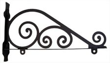 """Wrought Iron Sign Bracket Traditional Scroll Design 18"""" 24"""" or 36"""" Available"""