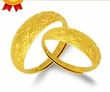 24K Yellow Gold Filled Starry Men and Women Adjustable Finger Ring Couple Rings