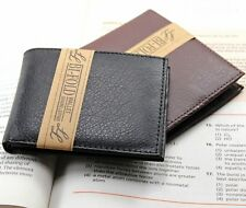 Mens Slim Thin Handcrafted High Quality Bifold Leather Wallet ID Cards Billfold