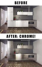 Chrome home decor apt DIY vinyl wrap + free install tools choose size and color