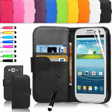 Samsung Galaxy Young2 G130 Flip Leather Wallet Case Cover & Screen Protector