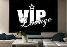 VIP LOUNGE CLUB WALL ART QUOTE LIVING ROOM STICKER DECAL MURAL ADHESIVE VINYL