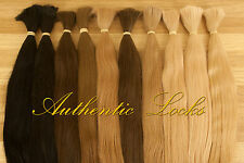 100% genuine DOUBLE DRAWN Russian/Slavic hair 25g Loose/I-tip/U-tip 25 colours