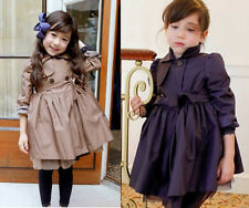 Kids Toddler Clothing Girls Pure Color Tulle Bottom Coat Tops Outerwear Sz 2-7Y