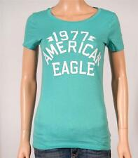 American Eagle Outfitters AE Signature Graphic Tee Womens Sea Green T-Shirt NWT