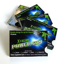 Strongest energy Caffeine chewing gum Sugarless gum No Aspartame Free Shipping
