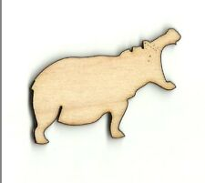 Hippo Hippopotamus Unfinished Wood Shapes Craft Supplies Laser Cut Outs HIP150
