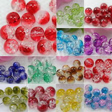 Wholesale 20/50Pcs Round Czech Glass Crack Craft Crystal  Spacer Beads 8MM New