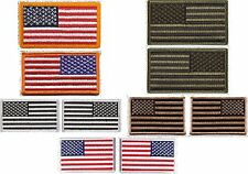 "Iron On / Sew On Military Patches - 2"" x 3"" Embroidered US Flag Patch"