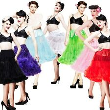 Tea length Slip 50s Rock n Roll Rockabilly Tutu Vintage Wedding Dress Petticoat